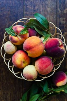 Roasted Peach with Rosemary via At Down Under #recipe