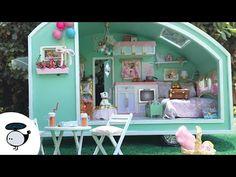 ✩ Carnival Camper Doll House Miniature ✩ DIY Time Travel Trailer Kit - YouTube