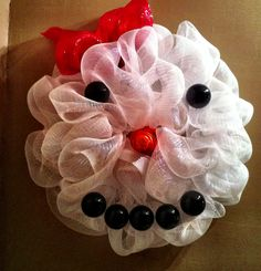 A wreath I made for a coworker who loves snowman! :)