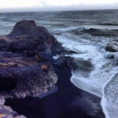 A perfect day in #Iceland: the black volcanic beaches of the island's South