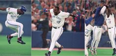 Joe Carter's World Series walk-off homerun gives the Jays back-to-back championships 24 years ago today Phillies World Series, Football Highlight, Toronto Blue Jays, The Championship, Sports Pictures, Lady And Gentlemen, Baseball Players, Seasons, Celebrities