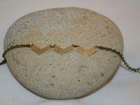 Bracelet chevrons dorés