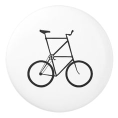 Tall Bike Ceramic Door Knob - home gifts ideas decor special unique custom individual customized individualized