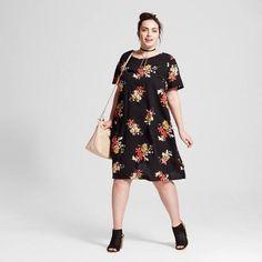 vestidos-de-fiesta-para-gorditas-primavera-verano-2017-vestido-negro-flores-target.jpg (520×520)