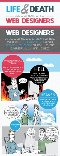 life and death web designers 01 Life and Death According to Web Designers [Infographic] Design Web, Online Web Design, Web Design Quotes, Creative Web Design, Web Design Company, Geeks, Website Design Services, Life And Death, Funny Design