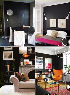 i think black would work well for a living room or home office, mud room/utility room, studio space.