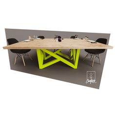 """Basic Tables.  Stand out while keeping it Basic. The Basic Collection is a series of tables + desks with a set size & design. You choose the color + options!🤯 The """"Two."""" 7' × 4' × 30"""" solid 1.75"""" maple table w/ a custom steel powdercoated base. Starting at $3,500.  Looking for a modern table or desk? DM-CALL or EMAIL us to get your projected started!  iRcustom.com Modern Desk, Modern Table, Modern Industrial, Table Desk, Table Furniture, Furniture Design, Custom Desk, Conference Table, Ping Pong Table"""