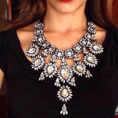 Gros Collier Femme 2016 Necklaces Pendants Flower Crystal Collares Mujer Sherlock Moda Accesorios Mujer Maxi Bijoux Choker