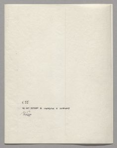 "John Cage. 4'33"" (In Proportional Notation). 1952/1953"