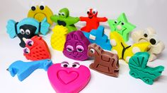Learn Colors with Play Doh Modelling Clay Toys Fun and Creative for Kids