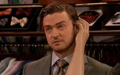"""Video: Justin Timberlake Joins Steve Carell and Jimmy Fallon for """"Real People, Fake Arms"""" Sketch"""