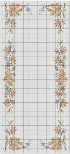 This Pin was discovered by Nil Tambour Embroidery, Cross Stitch Embroidery, Hand Embroidery, Cross Stitch Patterns, Fall Cross Stitch, Cross Stitch Flowers, Cross Stitch Collection, Needlework, Diy And Crafts