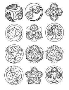 Welcome to Dover Publications: Japanese Emblems and Designs Adult Coloring Pages, Coloring Books, Japanese Family Crest, Wood Burning Patterns, Dover Publications, Japanese Patterns, Japanese Embroidery, Celtic Designs, Pyrography