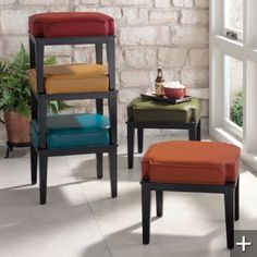 this is what I was talking about.. they will come all in one color of your choice.. nice solution for additional seating..