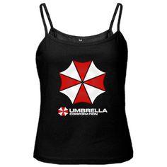 New Resident Evil UMBRELLA CORPORATION Spaghetti Tank Black Color