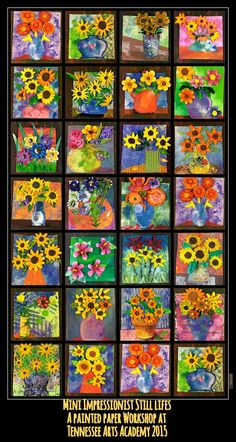 PAINTED PAPER ART | Art Projects for Kids | Art Lesson Plans | Crafts for Kids | Monet Art Lessons |