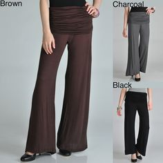 24/7 Comfort Apparel Women's Palazzo Pants | Overstock.com Shopping - The Best Deals on Lounge Pants