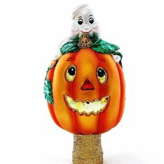 Old World Christmas Ghost & Pumpkin Tree Topper by GranvilleGallery #etsy #Halloween #holidaydecor #oldworldchristmas