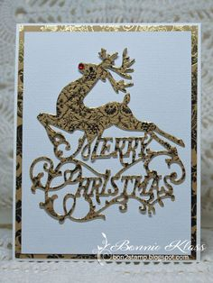 Stamping with Klass: Reindeer Merry Christmas