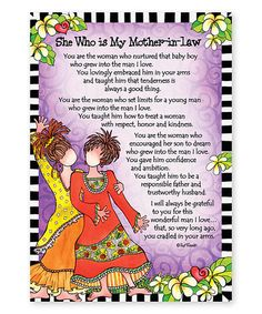 Loving this 'She Who is My Mother-in-Law' Print on #zulily! #zulilyfinds