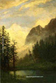 Albert Bierstadt Mountain Landscape, painting
