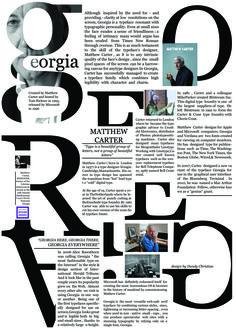 Georgia Typography - Tribute to Matthew Carter by Dandy Christian