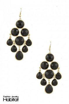 Pretty Pebble Chandelier Earrings - $14.00 at FashionJewelryHabitat.com - #FashionJewelryHabitat #FashionHabitat
