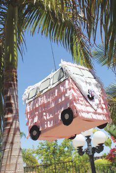Pink bus piñata!
