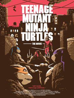 'Teenage Mutant Ninja Turtles The Movie' Poster - Matthew Florey Rowan