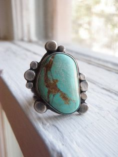 First Pebbles Turquoise Ring size seven and a half by ragandstone