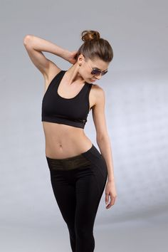 Black Racer Stitch Sports Bra dryflex made in Los by NinaBRoze, $54.00 #fitness #activewear #activeapparel #sportyourpretty #ninabroze