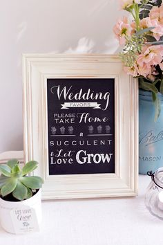 Instant Download Let Love Grow Sign Please by BordenSpecifics