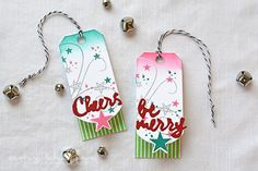 Cheers & Be Merry Tags by Amy Sheffer for Papertrey Ink (October 2015)
