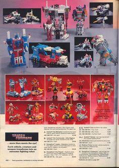 Transformers - Sears Christmas Catalog (1985 - 87)