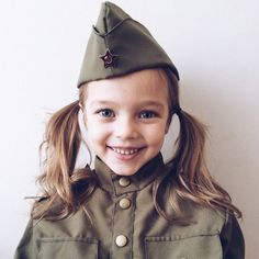 Anna as Russian soldier