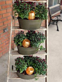 DIY Pumpkin Watering System for Mums