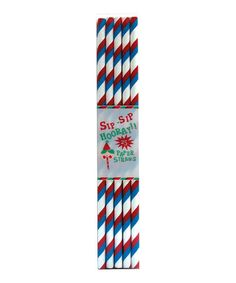 Red & Blue Stripe Paper Straw - Set of 50 by Party Partners on #zulily