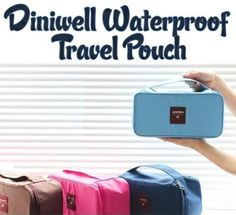 Diniwell Waterproof Travel Pouch for Underwear, Bras, Toiletry and Make-up Tools