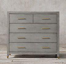 Graydon Shagreen 5-drawer Dresser
