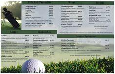 Rolling Meadows Golf Club Menu