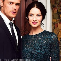 Cait and Sam, UK Premiere of Outlander