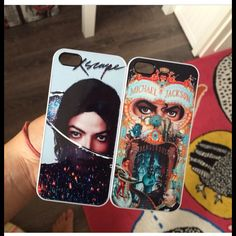 Michael Jackson Dangerous And Xscape Iphone cases my friend has a collection and gave me her Dangerous one❤❤ Michael Jackson Outfits, Michael Jackson Merchandise, Michael Jackson Smile, Michael Love, Michael Jackson Dangerous, Paris Jackson, Jackson Family, Archangel Michael, Cute Cases