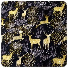 Print cotton knit fabric by the yard - great for fashion sewing!  Easy to sew cotton jersey.