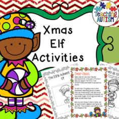 Elf Activities Christmas Classroom Elf  This 96 page download includes all activities linked to an Elf visitor to the class;  * Teacher note to class * Note from Elf to class * Vote for Elf Name * Elf Name Ideas * Elfie Welcome Breakfast * It's an Elf! * Elfie Adventures..  * 12 days Journal entries * Letter to Santa writing Paper * Letter to Santa Prompted Writing * Word Search * Label the Elf - girl/boy option * Dear Class Goodbye Letter * Elf be Different! * Color by Number * Roll & Color…