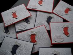 My Stocking Punch Christmas Cards - Stampin' Up!
