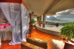 An open-air room at Jade Mountain Resort on St. Lucia at 10 Bucket List Hotels and Resorts Around the World by LaJollaMom Tropical Master Bedroom, Pool Bedroom, Dream Bedroom, Outdoor Bedroom, Fantasy Bedroom, Pretty Bedroom, Tropical Bedrooms, Dream Rooms, Bedroom Retreat