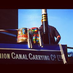#boat#canal#tins#cans#sky#blue#littlevenice #london#spring#river#barco#latas#colores#londres #primavera - @asacalabasa- #webstagram