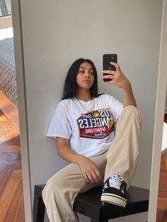 lauandamelissa Skater Girl Outfits, Tomboy Outfits, Indie Outfits, Tomboy Fashion, Teen Fashion Outfits, Teenager Outfits, Cute Casual Outfits, Retro Outfits, Streetwear Fashion