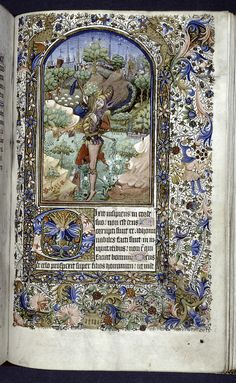 Psalm 52, Miniature of the Fool dancing, ca. 1450