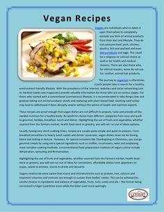 vegan-recipes-17590492 by Arnie Kaye Dillen via Slideshare